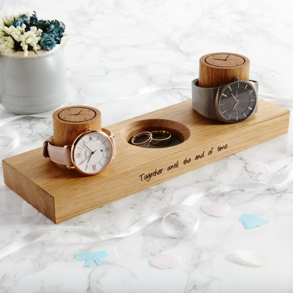 Couples watch and ring tray