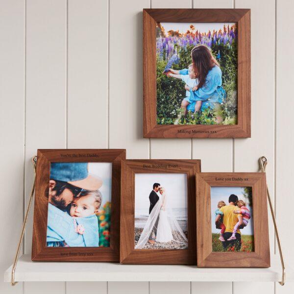 Walnut photo frame