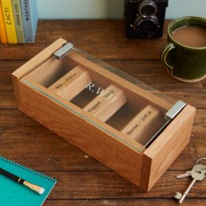 Oak watch box