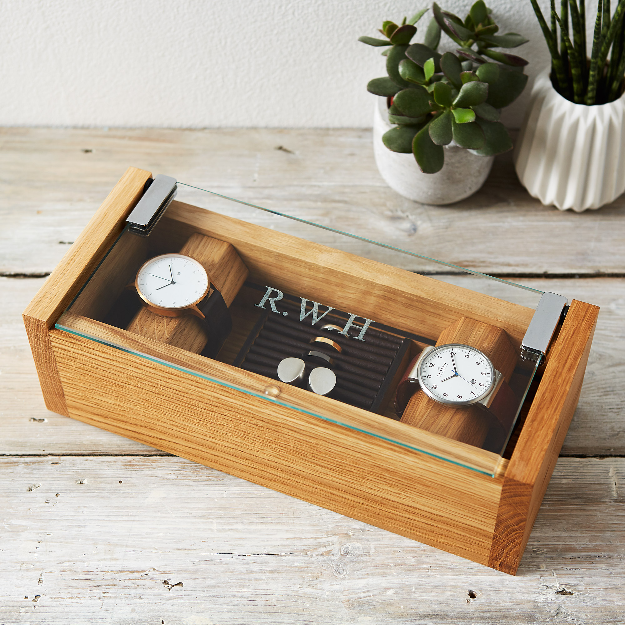 Select Gifts On//Off Cufflinks Optional Engraved Personalised Box