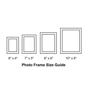 Frame sizes available