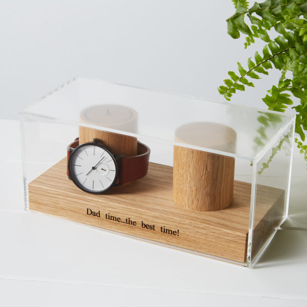 watch stand with case