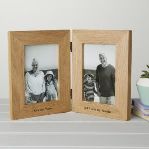 Hinged Oak Photo Frame