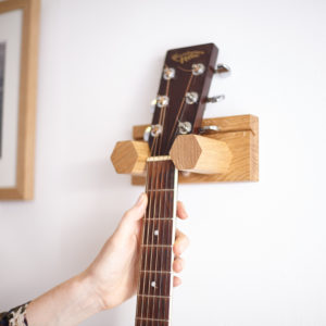 Wall mounted Plain Hex Small Guitar.