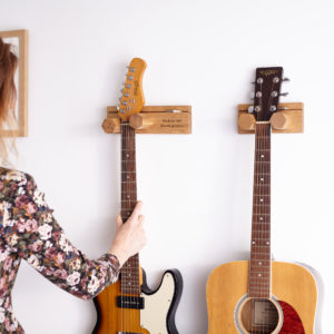 Wall Mounted Guitar Stands Personalised and Small