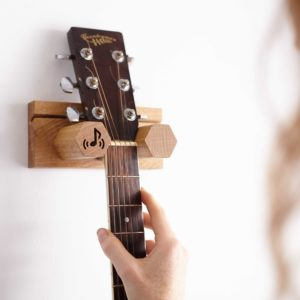 Side View of Wall Mounted Guitar Stand
