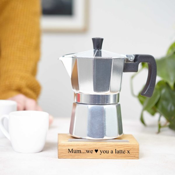 Personalised Stovetop Espresso Maker Moka Pot Stand